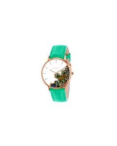 Clueless Horloge Met Turquoise Leren Band