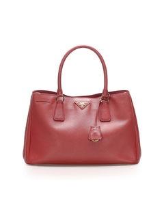 Prada Saffiano Galleria Handbag Red