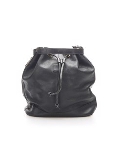 Burberry Leather Bucket Bag Black