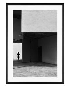 Poster Grijs Gebouw