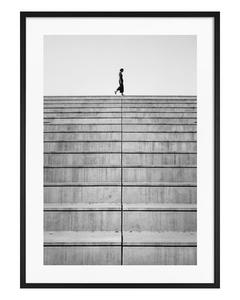 Poster Schwarzweiß Treppe