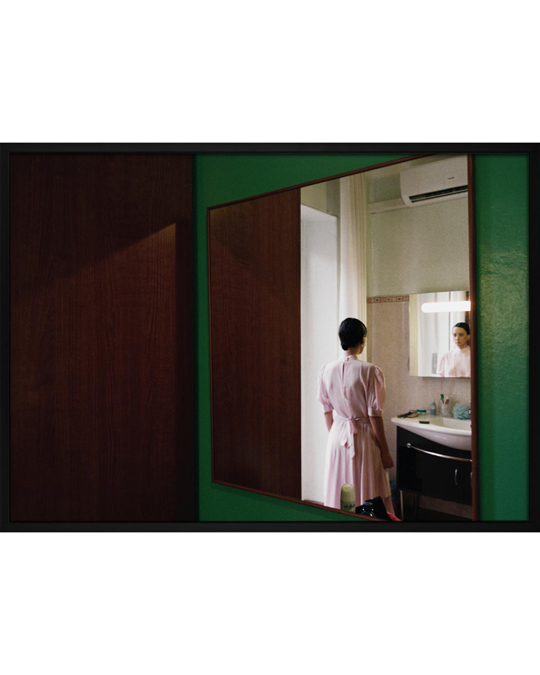 Democratic Gallery Poster Pink Lady In Mirror