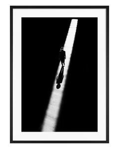 Poster Mann in Schwarz