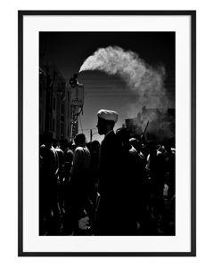 Poster Schwarzweiß Markt im Nahen Osten