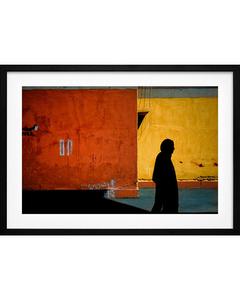 Poster Orange Reise in die Iran