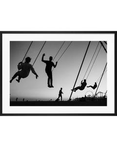 Poster Black & White Swing