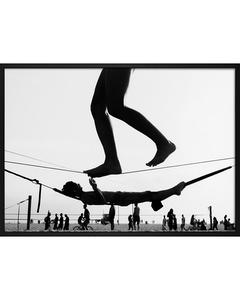Poster Zwart-wit Evenwichtsoefening