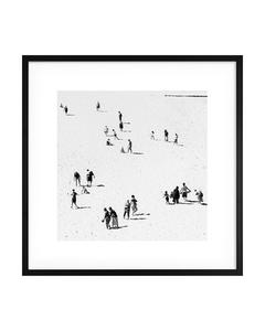 Poster Weiß Sandstrand