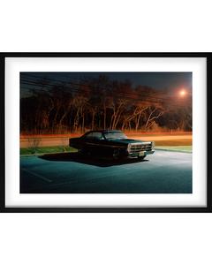 Poster Auto Bij Nacht