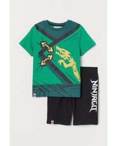 T-shirt Och Shorts Grön/ninjago