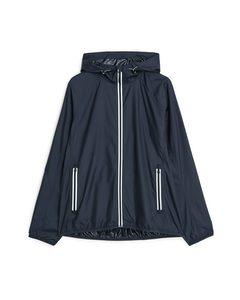 Hooded Running Jacket Dark Blue