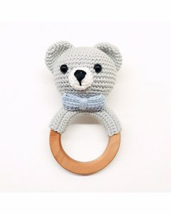 Grey Bear Rattle-blue