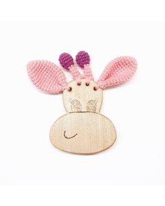 Giraffe Teething Toy Pink