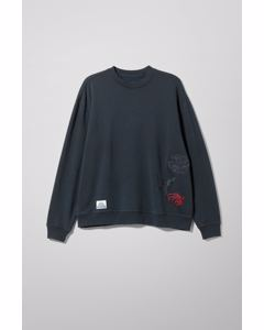 L Sweatshirt Butterfly Black