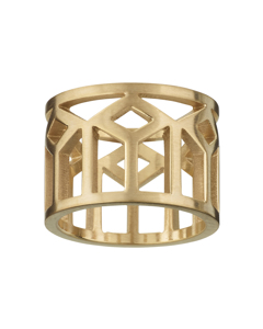 Shirin Ring Matt Gold