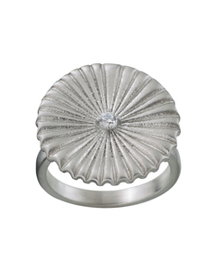 Crinkle Ring Matt Steel