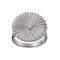 Crinkle Ring Matt Steel