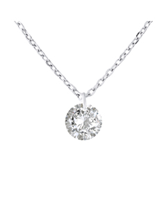 Solitaire Ketting Zilver 925 Tag-a429a-sw