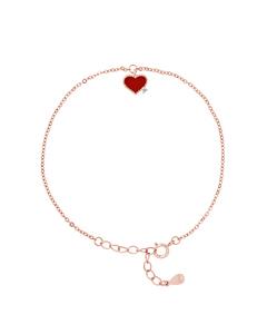 Heart Bracelet In 925 Silver