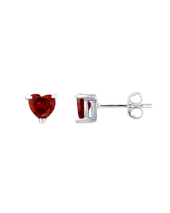Heart Earrings In 925 Silver