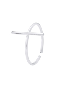 Barette Ring In 925 Silver