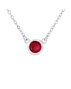 Solitaire Red Necklace