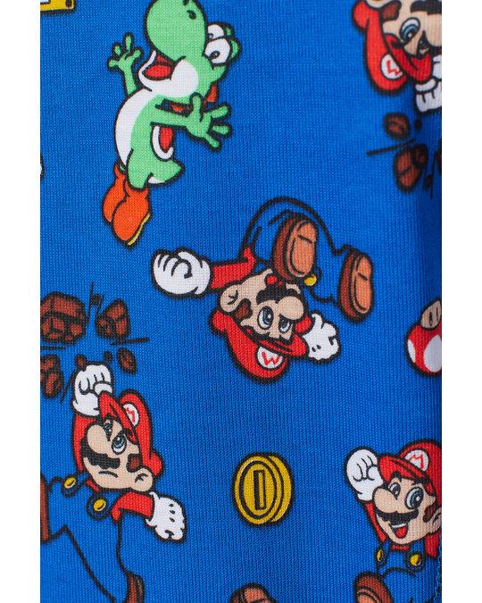 H&M Printed Pyjamas Bright Blue/super Mario