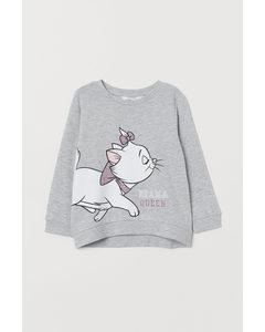 Sweatshirt Med Motiv Gråmelerad/aristocats