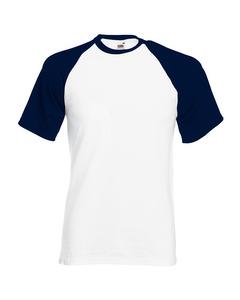 Fruit Of The Loom Mens Short Sleeve Baseball T-shirt