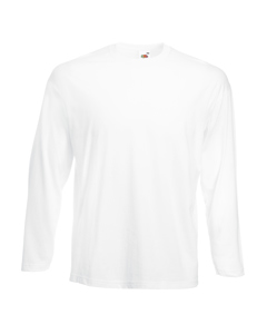Fruit Of The Loom Mens Valueweight Crew Neck Long Sleeve T-shirt