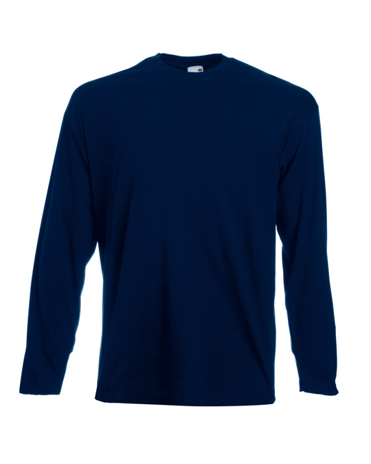 Fruit of the Loom Fruit Of The Loom Mens Valueweight Crew Neck Long Sleeve T-shirt