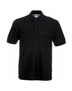 Fruit Of The Loom Mens Pocket 65/35 Pique© Short Sleeve Polo Shirt