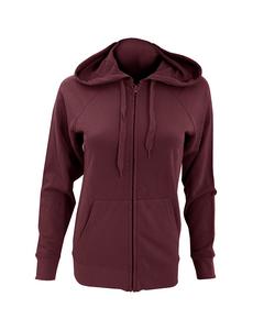 Fruit Of The Loom Ladies Fitted Lightweight Hooded Sweatshirts Jacket / Zoodie (240 Gsm)