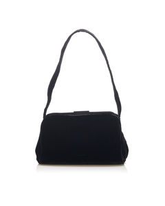 Prada Velvet Shoulder Bag Black