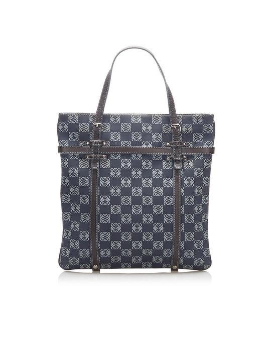 Loewe Loewe Printed Anagram Tote Bag Blue