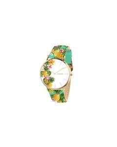 Clueless Horloge Met Multicolor Leren Band