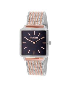 Clueless Horloge Met Bicolor Mesh Band