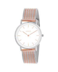 Clueless-Armbanduhr mit zweifarbigem Mesh-Armband