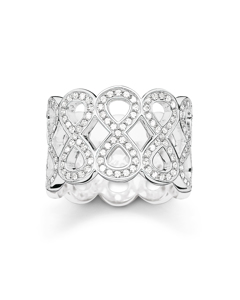 Band Ring Infinity 925 Sterling Silver