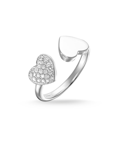 Ring Hearts Pavé 925 Sterling Silver
