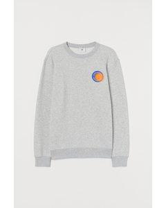 Sweatshirt mit Motiv Graumeliert/Sidewalks