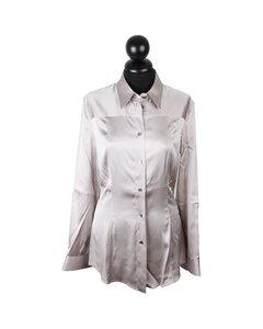 Dolce & Gabbana Gray Satin Skjorta Modell: Button Down Shirt
