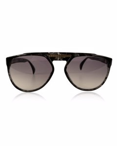 Yves Saint Laurent Vintage Black Plastic Aviator Sunglasses Mod: 8726 P093