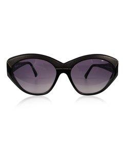 Yves Saint Laurent Svart Läder Cat-eye Solglasögon Modell: 8916 P 367
