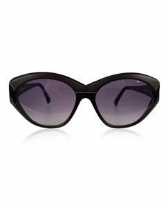 Yves Saint Laurent Vintage Black Leather Cat-Eye Sunglasses Mod: 8916 P 367