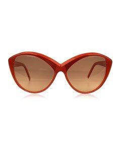 Yves Saint Laurent Red Plastic Cat-eye Solglasögon Modell: 8702 P 72
