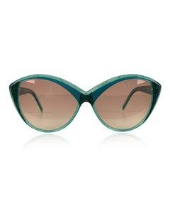 Yves Saint Laurent Turquoise Plastic Cat-Eye Sunglasses Model: 8702 P 71