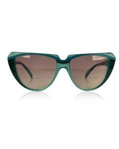 Yves Saint Laurent Turquoise Plastic Cat-eye Solglasögon Modell: 8704 P 71