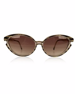 Yves Saint Laurent Vintage Sunglasses 8316 P 42 Striped Gold Glitter