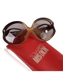 Christian Dior Vintage Brown Acetate Sunglasses Mod: Oversized